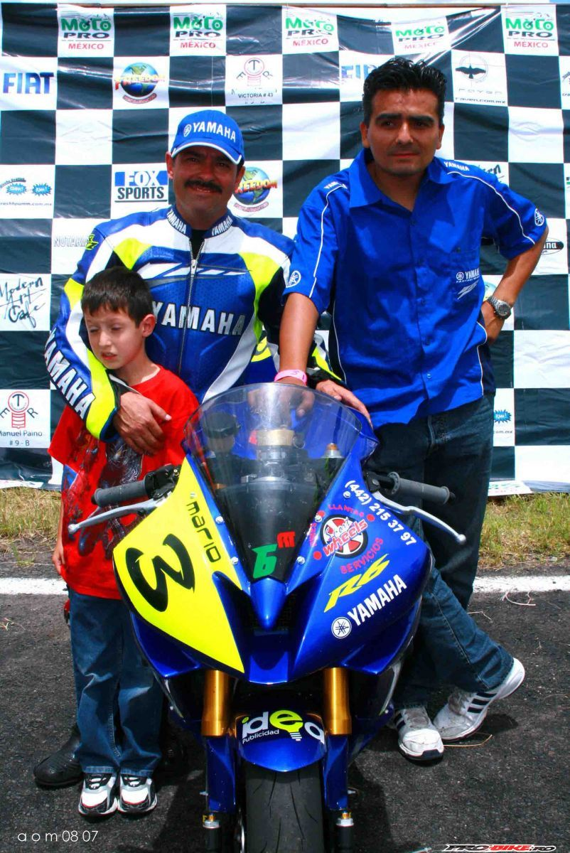 in Podium with champion of rookies 2007