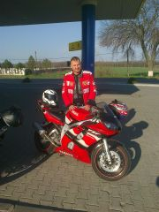 R6 red&black first ride