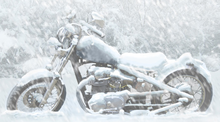 Gazduire (iernat) motocicleta pe timpul iernii